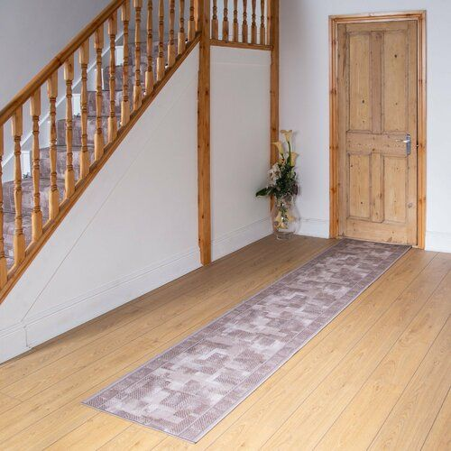 Photo of ClassicLiving Banner Looped/Hooked Beige Hallway Runner Rug