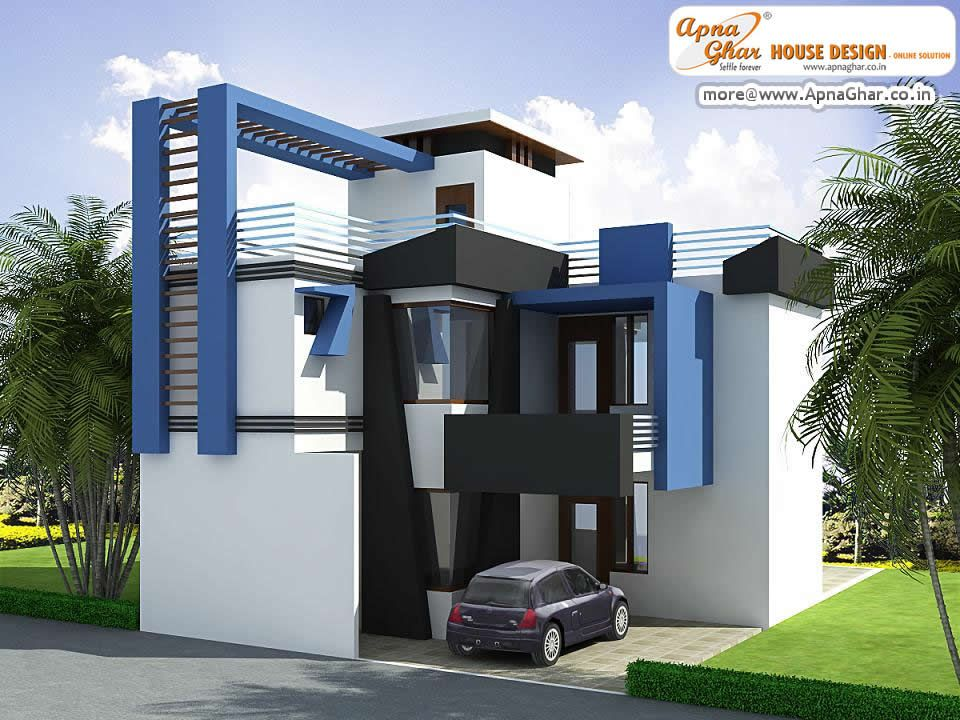 Modern Duplex House Exterior Elevation In 90m2 10m X 09m Like Share