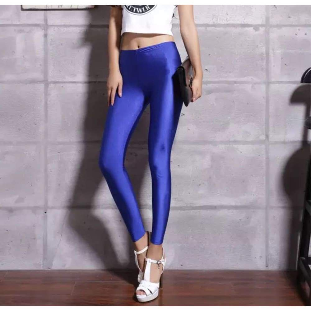 Blue Leggings Neon leggings, Leggings are not pants
