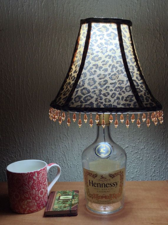 Decorated Hennessy Bottle Hennessy Lampcam's Lamps  Bottle Decor  Pinterest  Hennessy
