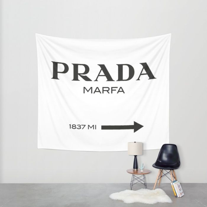 Prada Marfa Sign Enjoy A Touch Of Glam With This Sign Inspired By Marfa The Famous Art Town In Texas Which Wall Signs Installation Design Prada Marfa Sign