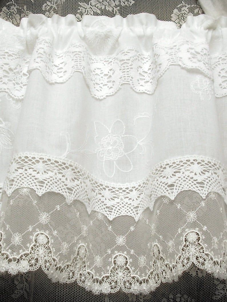 Vintage Curtain French Nordic Style Shabby Topper Tende Shabby Chic Cantonniere Kitchen Curtain Lace Window Valance Country House Garden White 249 Vintage Gardinen Shabby Chic Vorhange Gardinen Landhausstil