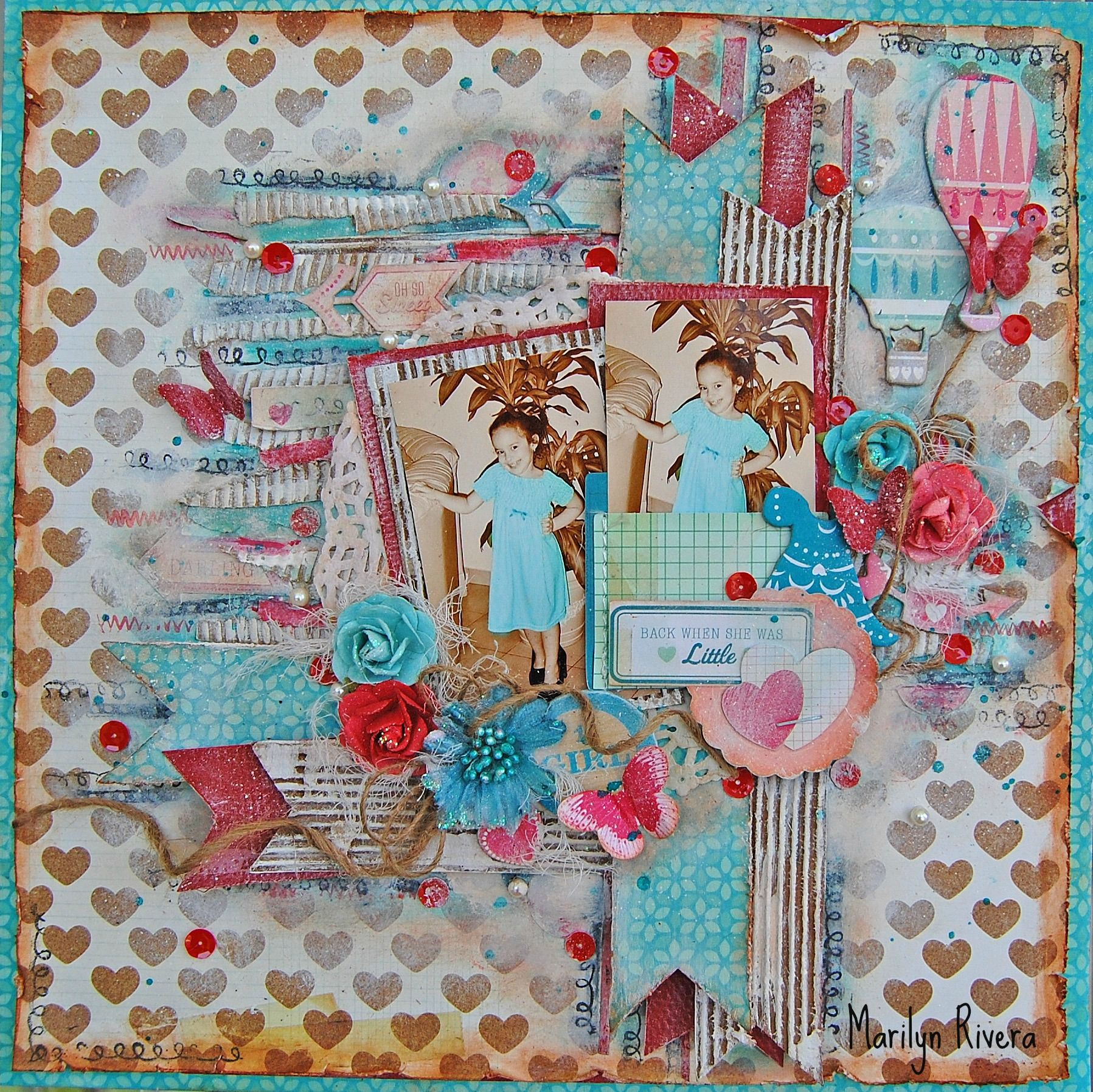 Back when...**My Creative Scrapbook*** - American Crafts - Crate Paper - Oh Darling Collection -