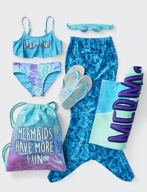 9a5b3194363 Girls Mermaid Swim | Shop Justice | LES Bag ideas in 2019 | Outfits ...