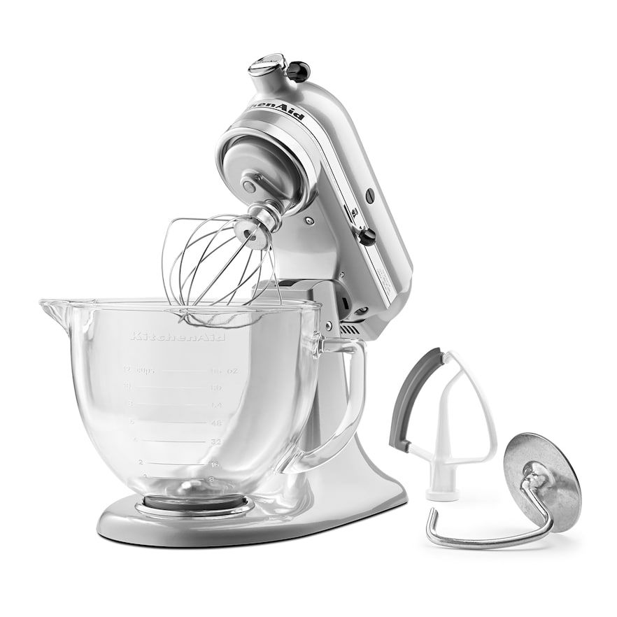 Kitchenaid Ksm105gbcmc 5 Qt Tilt Head Stand Mixer With Glass Bowl