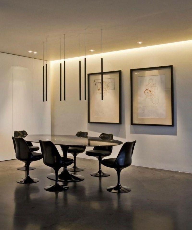 Essbereich Originelle Indirekte Beleuchtung Wand Und Decke