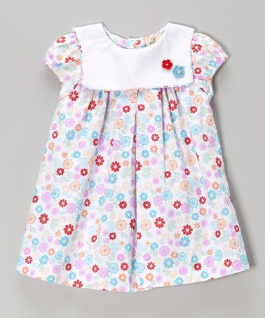 Love this Pink & White Floral Swing Dress - Infant by Alouette on #zulily! #zulilyfinds