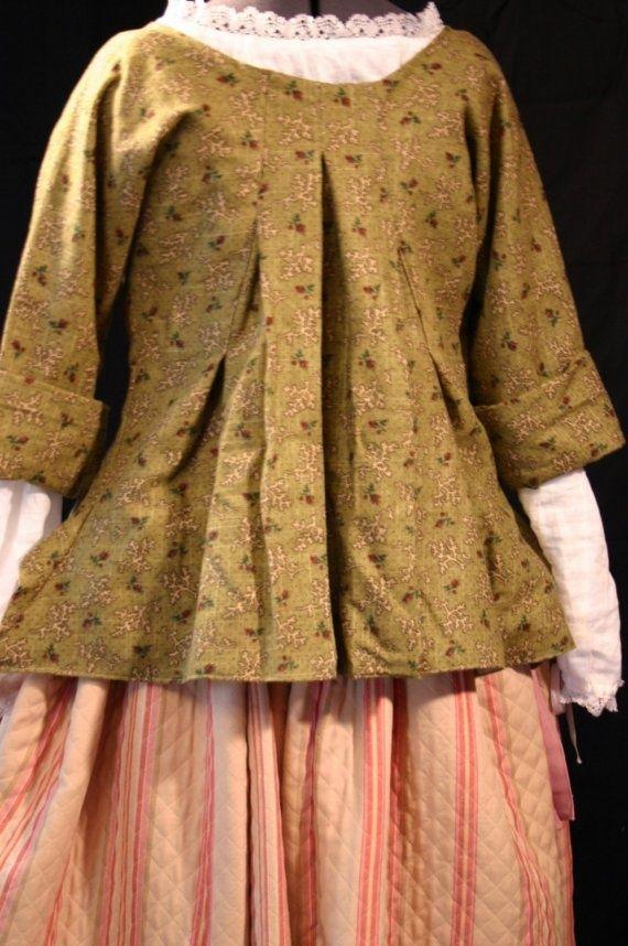 1.18 th century short gown | CH10 The Eighteenth Century | Pinterest ...