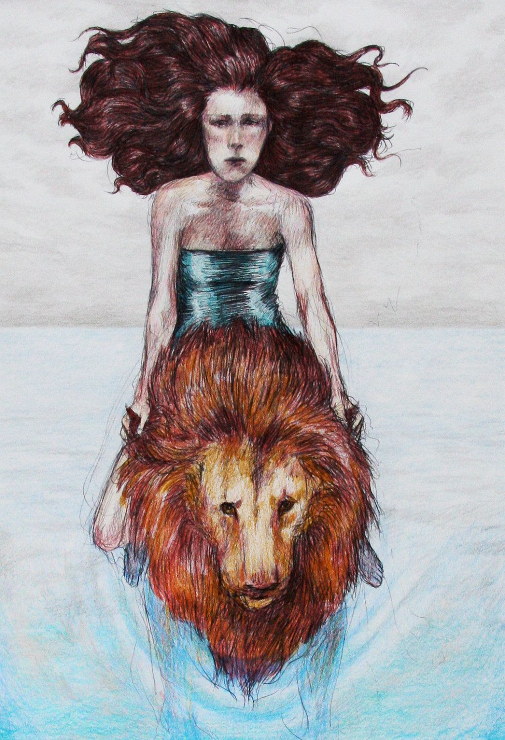 Riding a lion across the sea