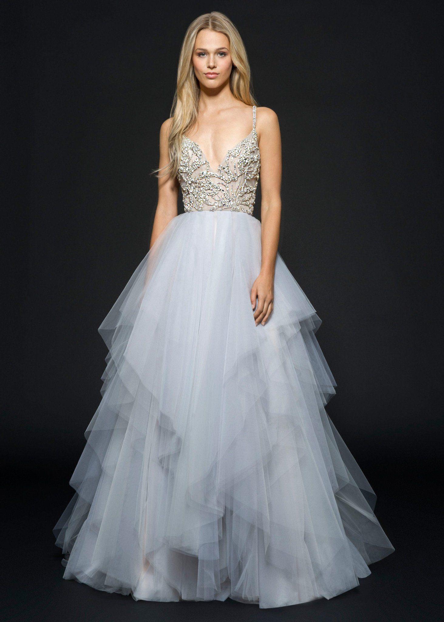 Rhinestone wedding dresses   Arlo in   Wedding Ideas  Pinterest  Tulle skirts