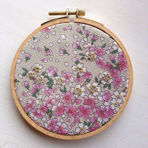 Blessings / Cherry Blossoms Hoop by BijouxDeBeauJardin on Etsy