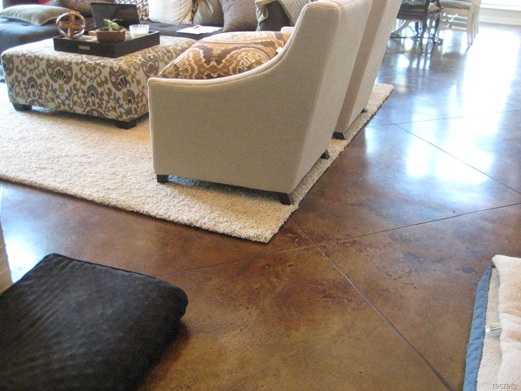 Stained Concrete Living Room Concrete Stain Contemporary Living Tile Floor Living Room Industrial Livingroom Stained Concrete #stained #concrete #living #room