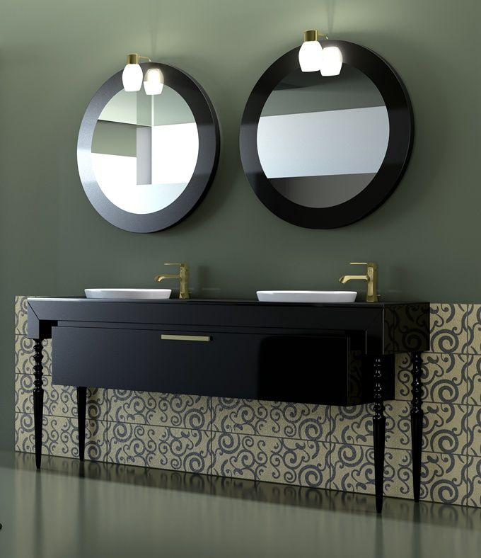 meuble salle de bain double vasques luxe baroque laqu dil salle de bain pinterest. Black Bedroom Furniture Sets. Home Design Ideas