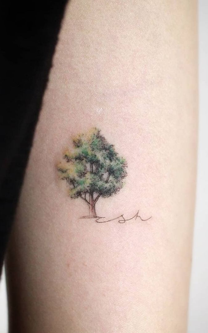 50 Gorgeous and Meaningful Tree Tattoos Inspired by Nature's Path - KickAss Things