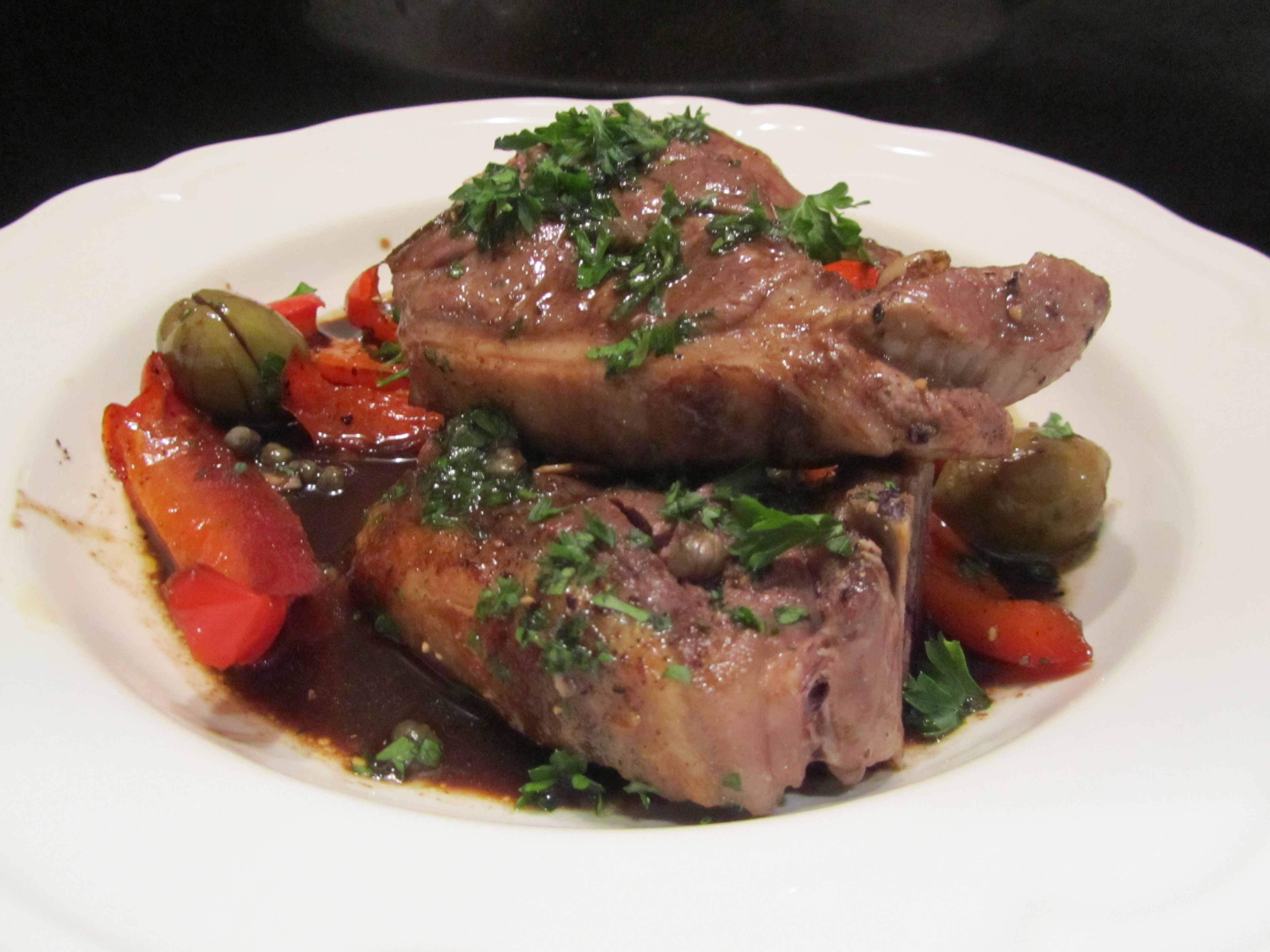 Paleo Lamb, Peppers, Capers and Olives