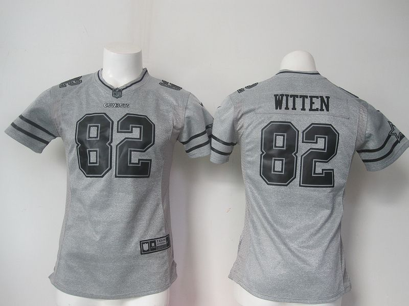 2104f036e52 Womens Dallas Cowboys 82 Jason Witten Gray Nike Gridiron Gray Limited Jersey