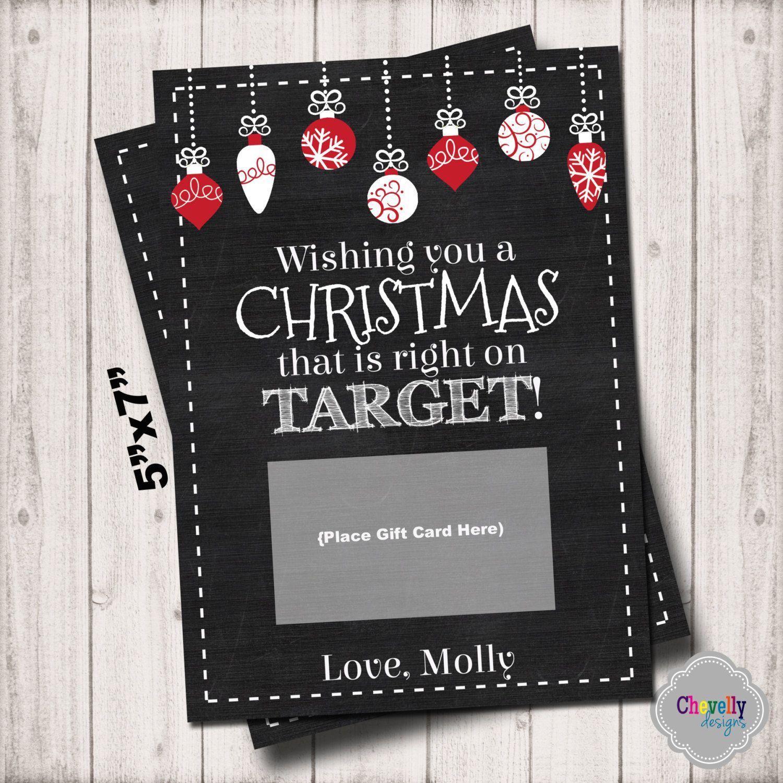 Target Christmas Gift Card Printable - XMAS004 - Target, Christmas ...