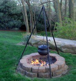 Dutch Oven Tripod For Backyard Fire Pit Fire Pit Cooking Fire Pit Backyard Camping Fire Pit