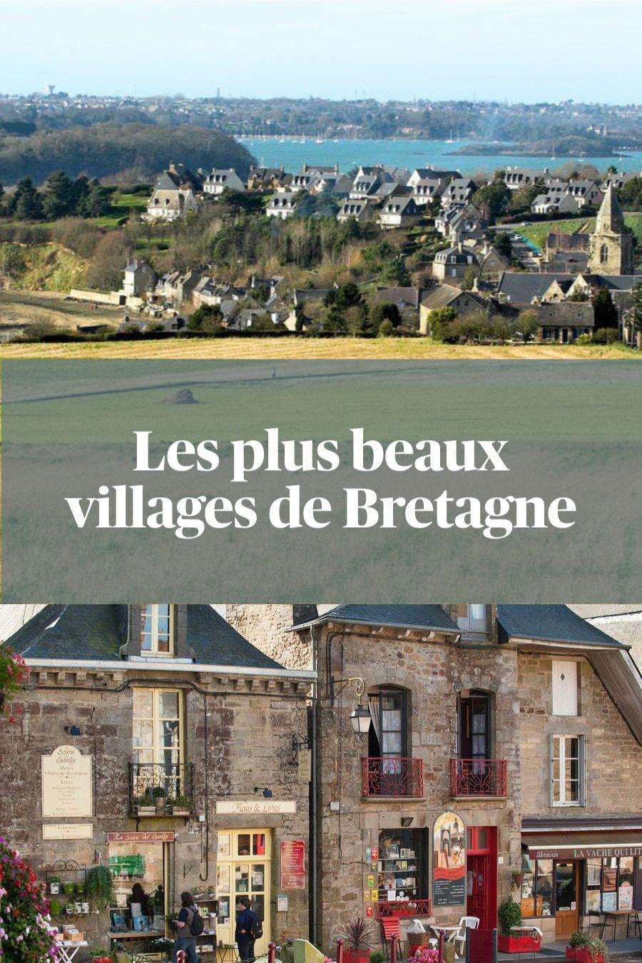 La carte des plus beaux villages de Bretagne