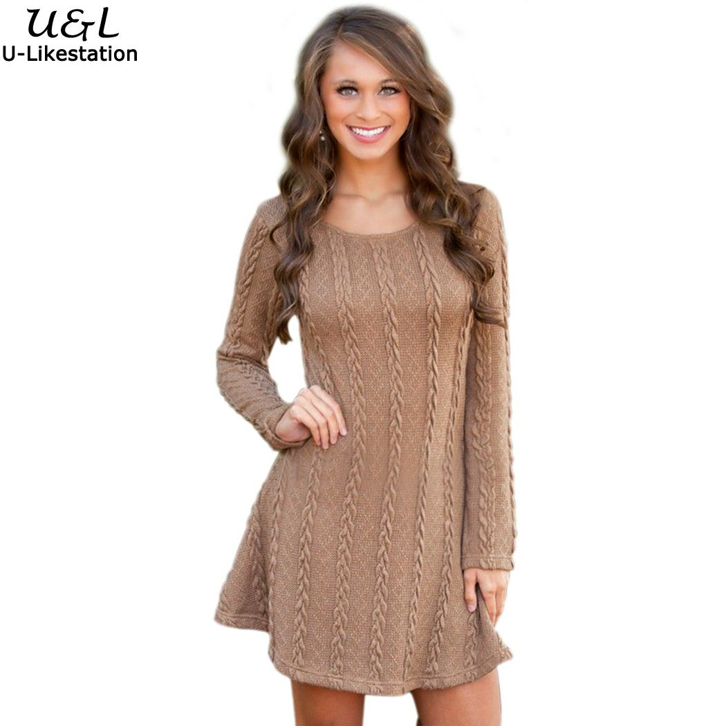Online Get Cheap Beige Sweater Dress -Aliexpress.com | Alibaba ...