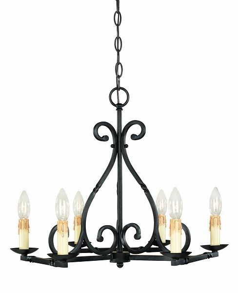 World Imports Wrought Iron Chandeliers … | Pinteres…