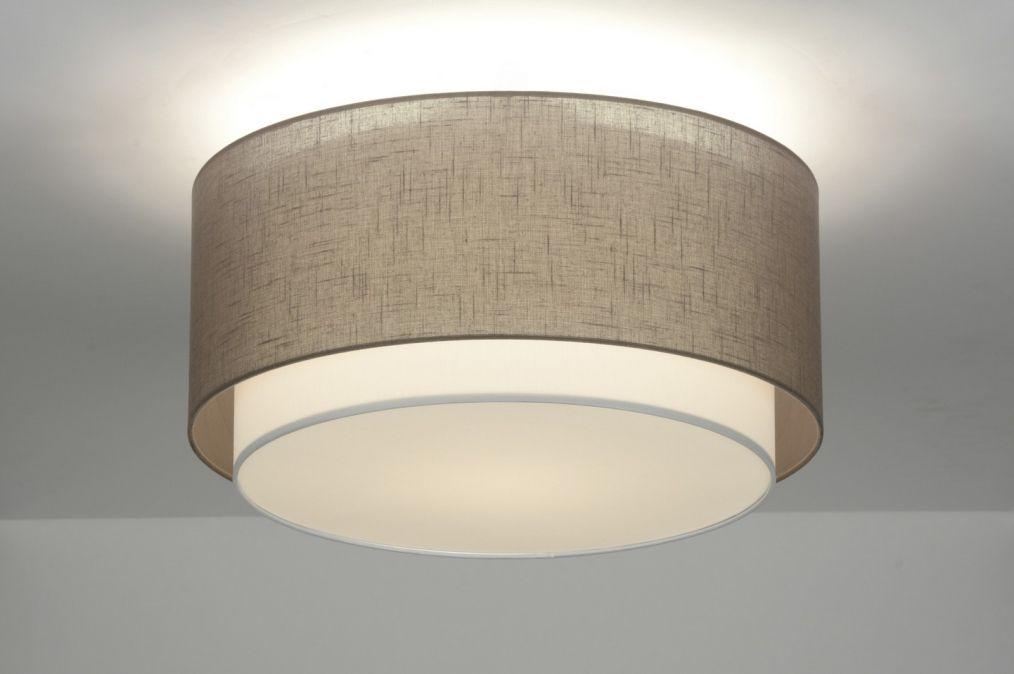 artikel deze mooie plafondlamp bestaat uit twee kappen