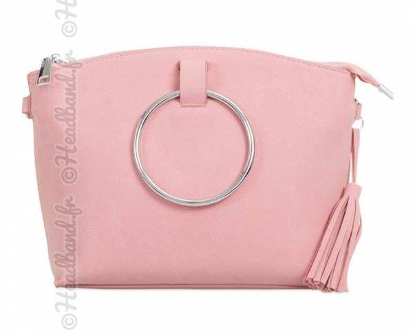 912e058931 Petit sac simili daim anse cercle métal rose en 2019 | Accessoires ...
