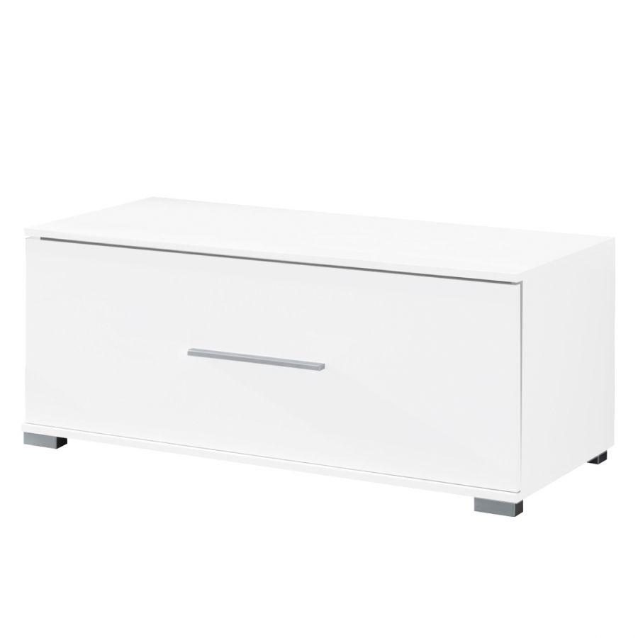 Buffet bas TV Vogue, petit modèle - tiroirs avec Soft - Close - blanc brillant