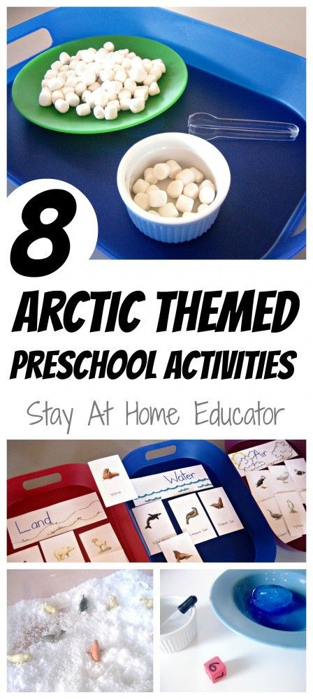 Eight Arctic Themed Preschool Activities is part of Polar animals preschool, Polar animals, Winter preschool, Preschool lessons, Preschool activities, Arctic animals - A collection of eight educational Arctic themed activities appropriate for preschoolers, kindergarten and lower elementary