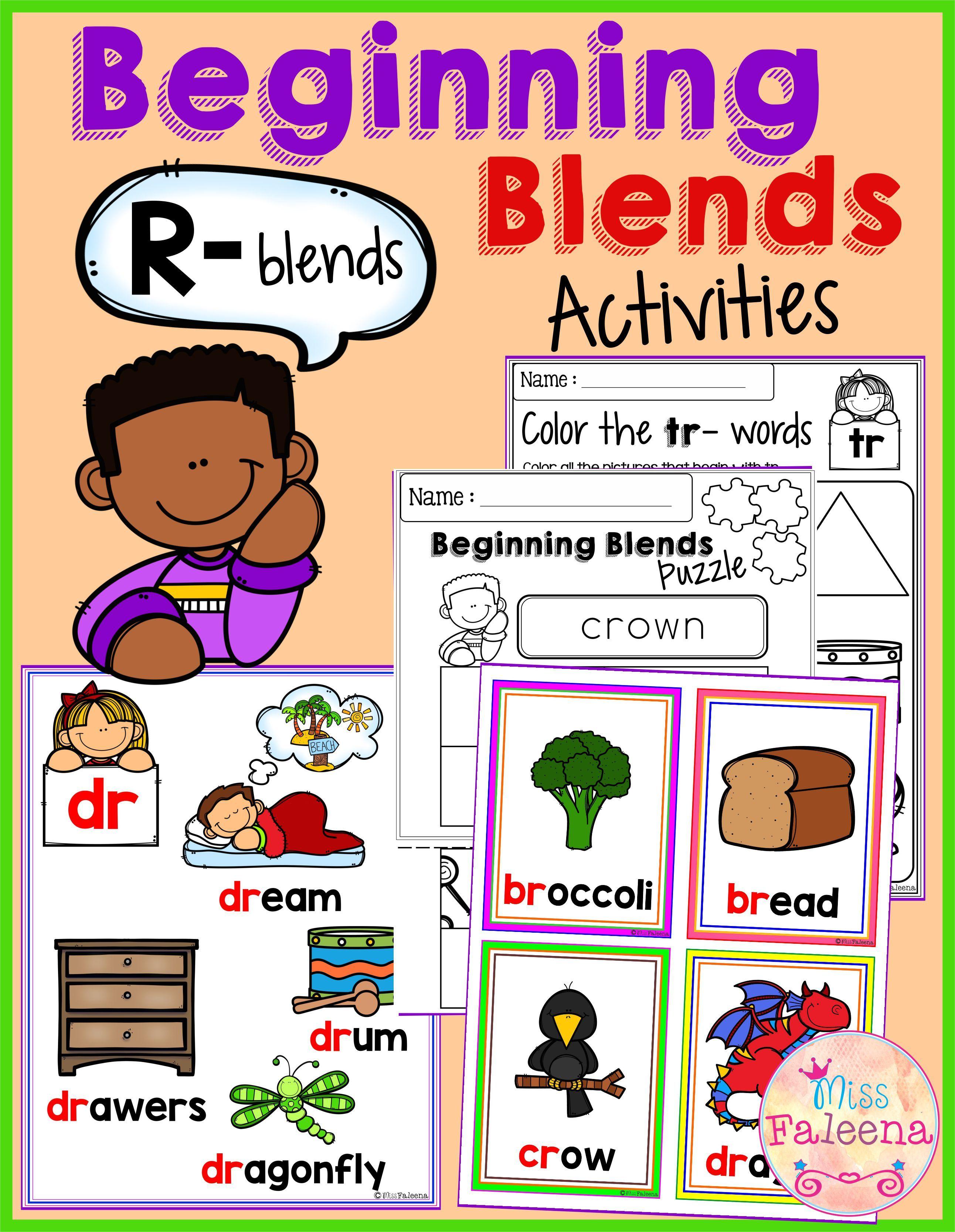 The Beginning Blends Activities R Blends