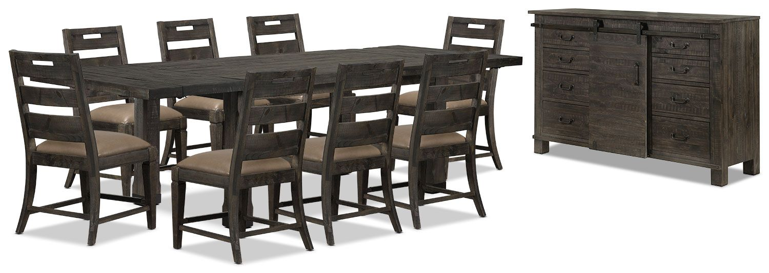 Calistoga 10Piece Dining Package  Solid Pine Accent Pieces And Endearing Dining Room Accent Pieces Design Decoration