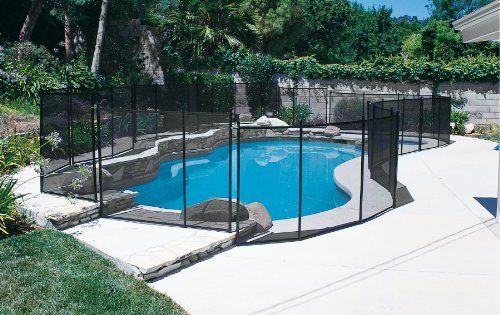 In Ground Pool Safety Fence 4ft X 10 Ft Section By Gli 99 99 Fence Section Comes Complete With Ha Pool Safety Fence Swimming Pool Safety In Ground Pools