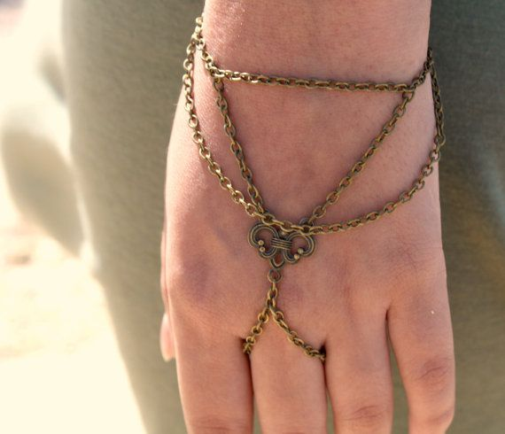 Slave Bracelet Hipster Bronze Chain Bohemian by FunnyPeopleCo, $15.00
