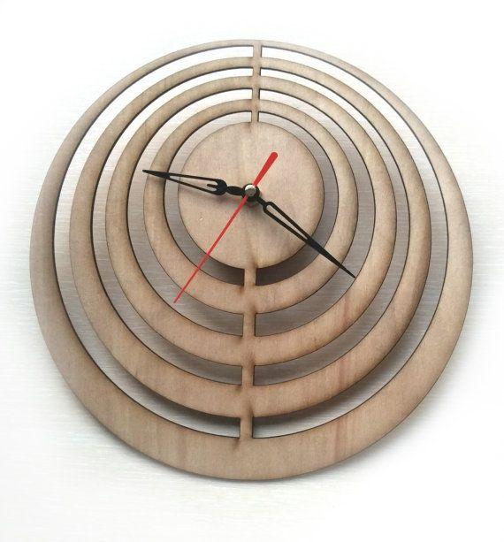 Laser Cut Wall Clock Laser Cutting Wood Clock Modern By Woodinky · Minimalist  ClocksClock IdeasWood ClocksUnique ...