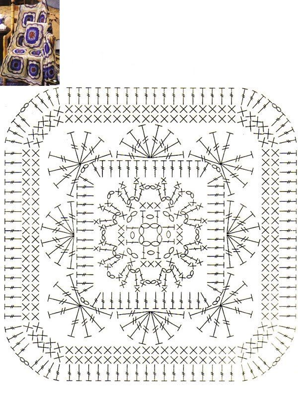 crochet granny square | crochê | Pinterest | kostenlose Muster ...