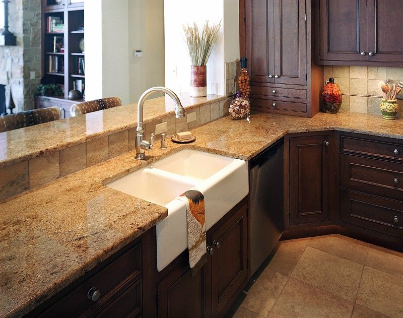 kitchen granite countertop pictures | stone kitchen countertops