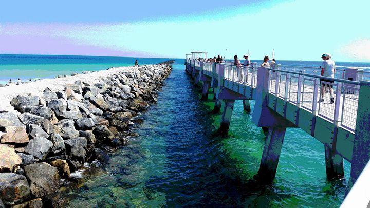 South Pointe Park Pier Eastward Beach Miami Art