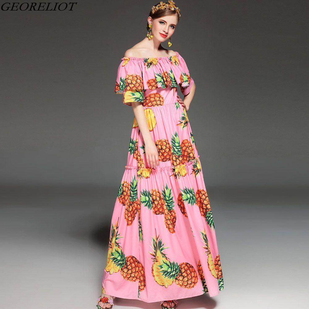 High quality off shoulder long maxi dress new summer fashion