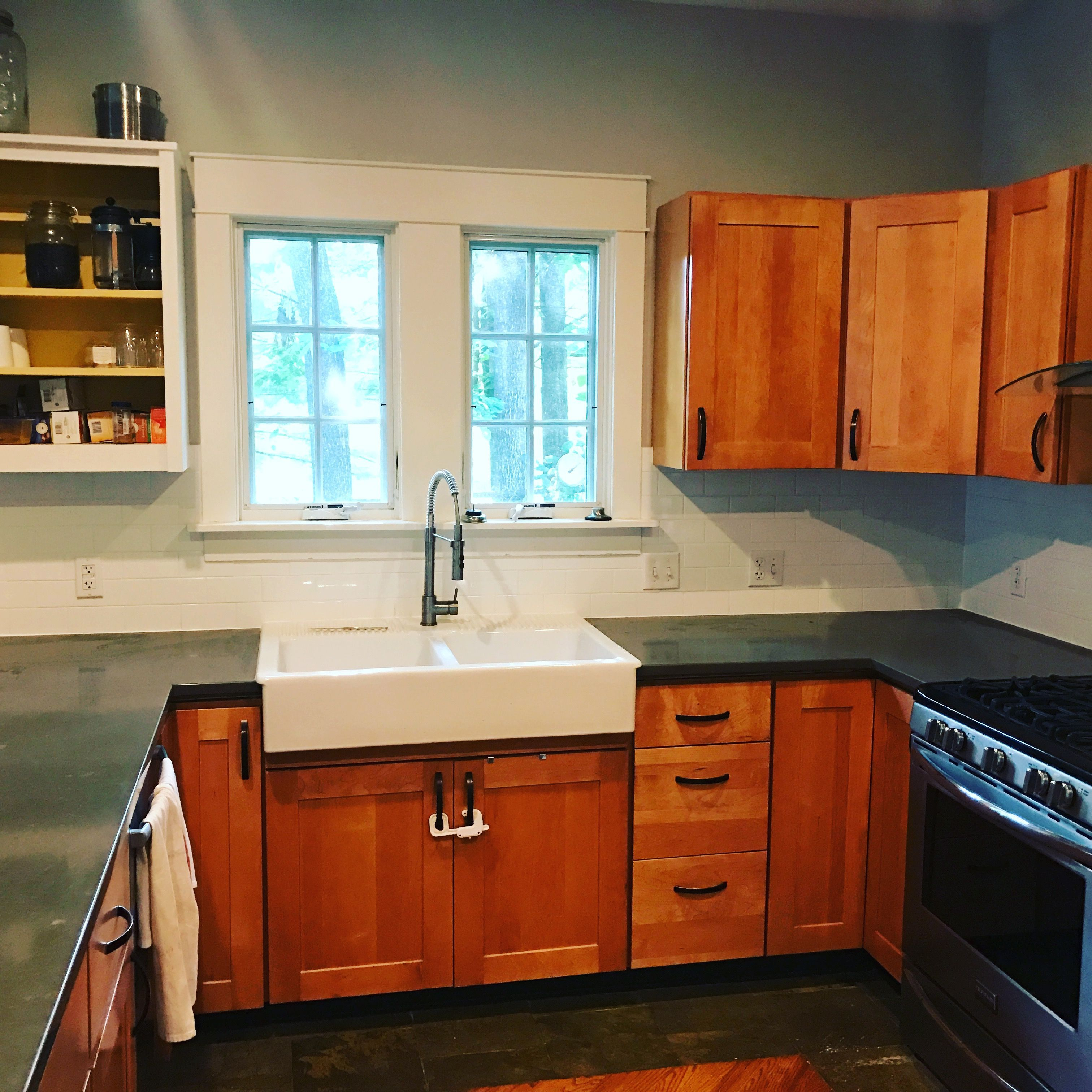 Image result for countertop with white sink maple cabinets ... on Maple Cabinets With White Countertops  id=38155