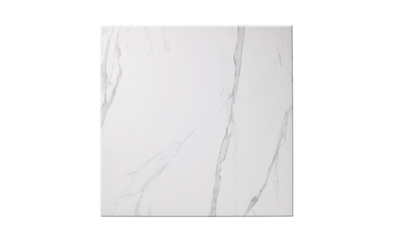 Carrelage Artdeco Aspect Marbre Blanc Dim 59 3 X 59 3 Cm