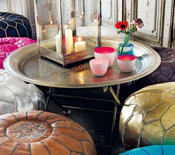 Creez Une Ambiance Charmante En Utilisant Le Plateau Marocain Archzine Fr Table Basse Marocaine Table Basse Ronde Table Basse Orientale