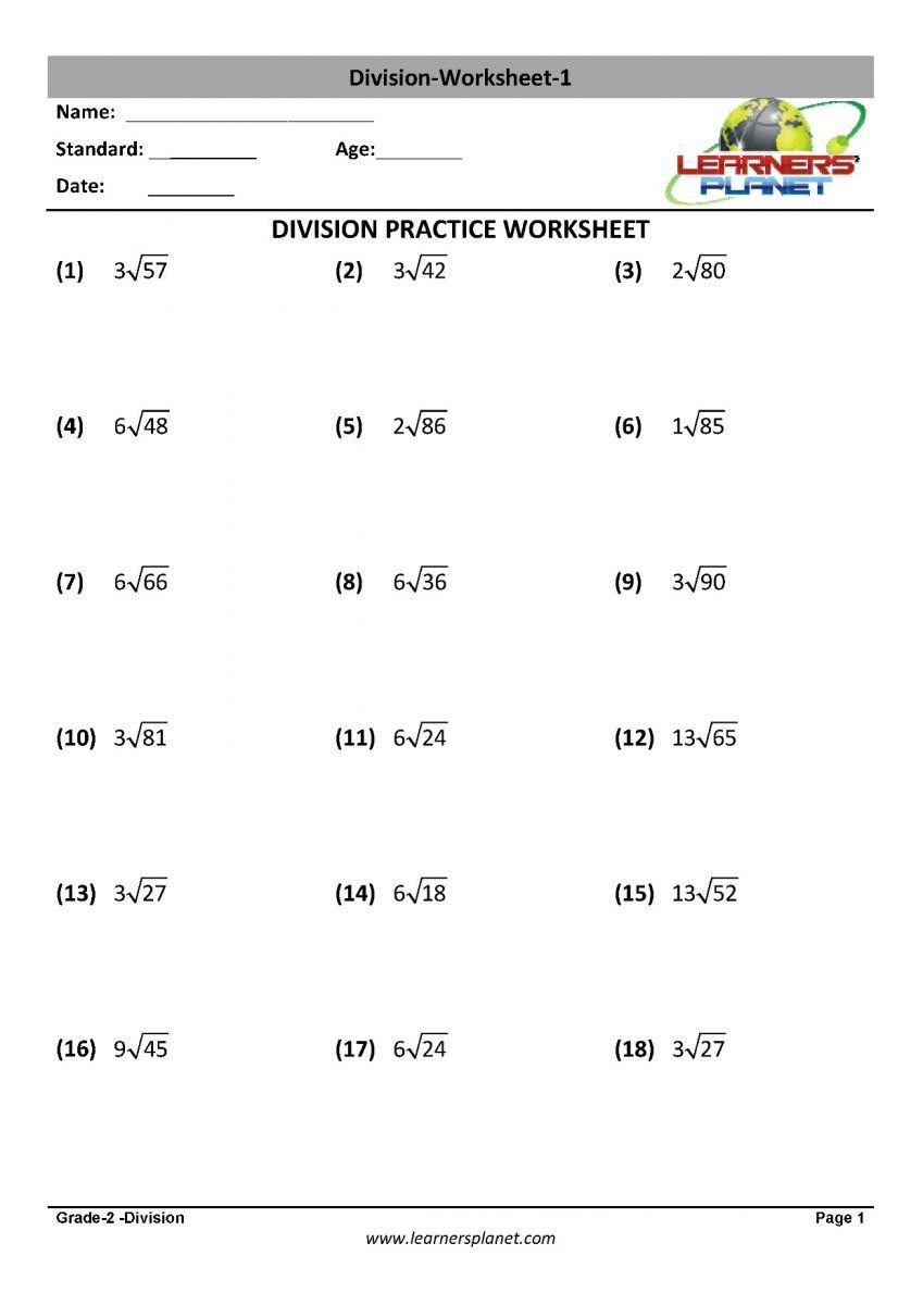 Division Worksheets For Grade 2 Math Division Worksheet Printables Quiz Cbse Study In 2020 2nd Grade Worksheets Math Division Worksheets Division Worksheets