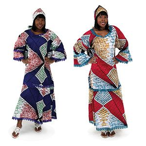 African Lace-Trim Dress $34.95 African Lace-Trim Dress to show off your fashionable side. Comes with matching head scarf.  C-WF873