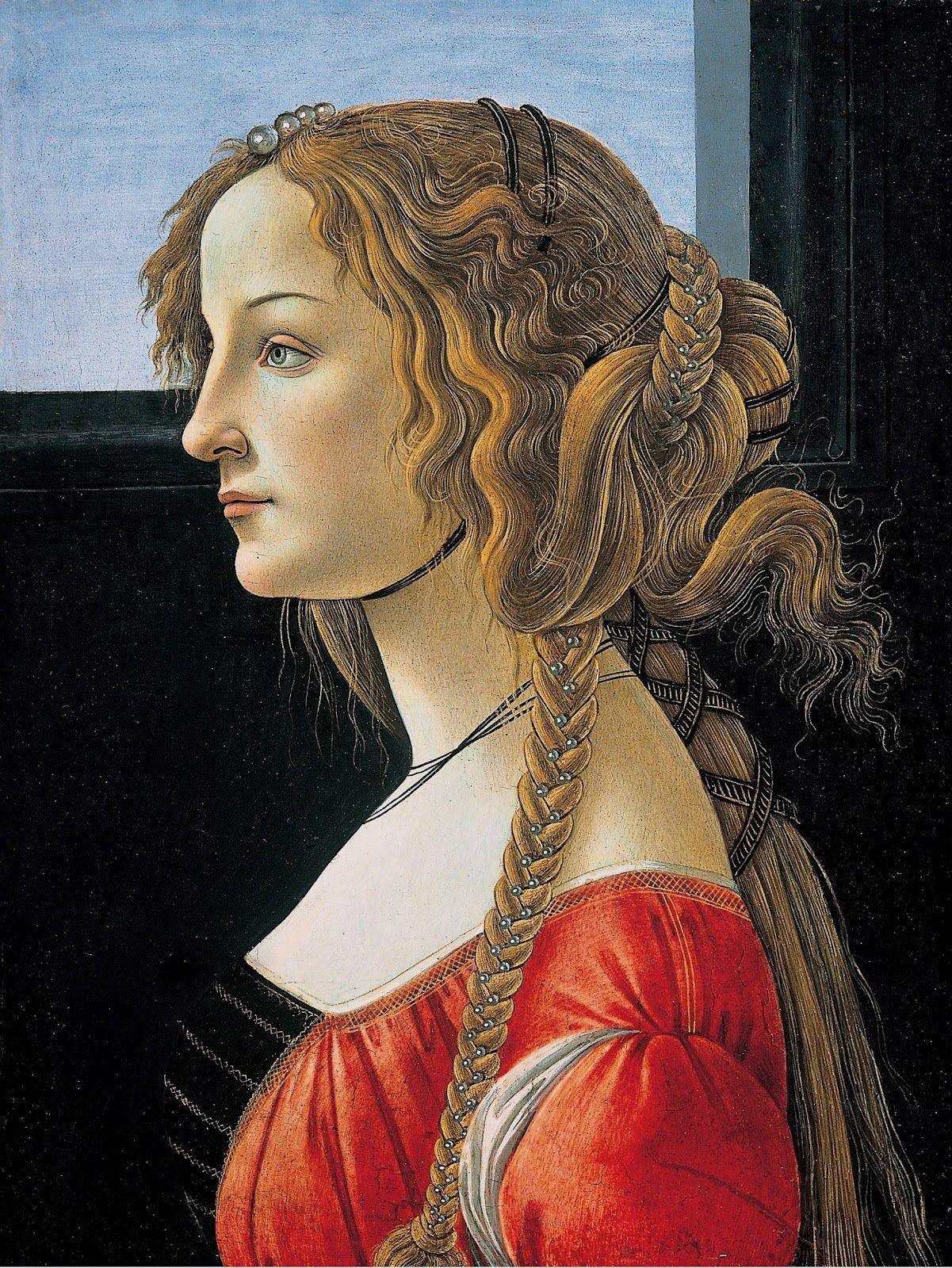 Peinture Sandro Boticcelli Simonetta Vespucci