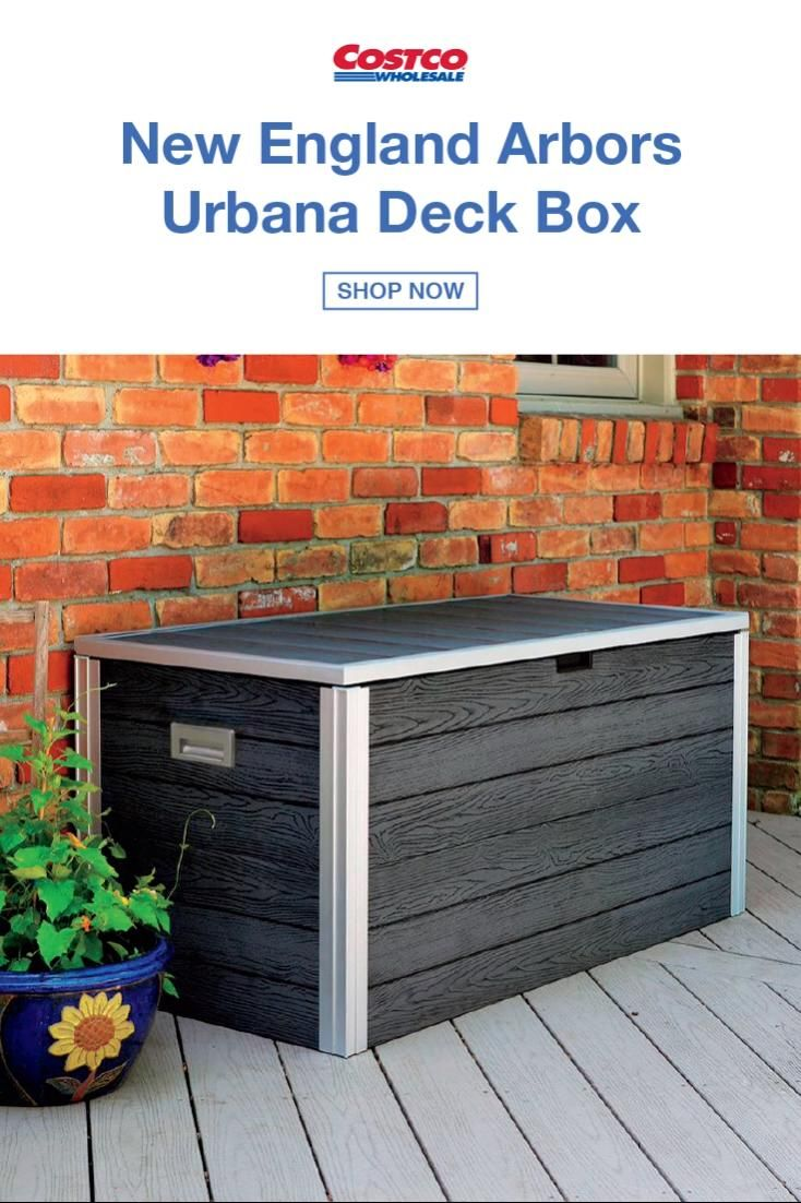 Extra Storage Is A Must Especially When You Have Backyard Games And Sporting Goods To Stow Away The Video In 2020 Small Backyard Patio Patio Deck Designs Easy Backyard Diy