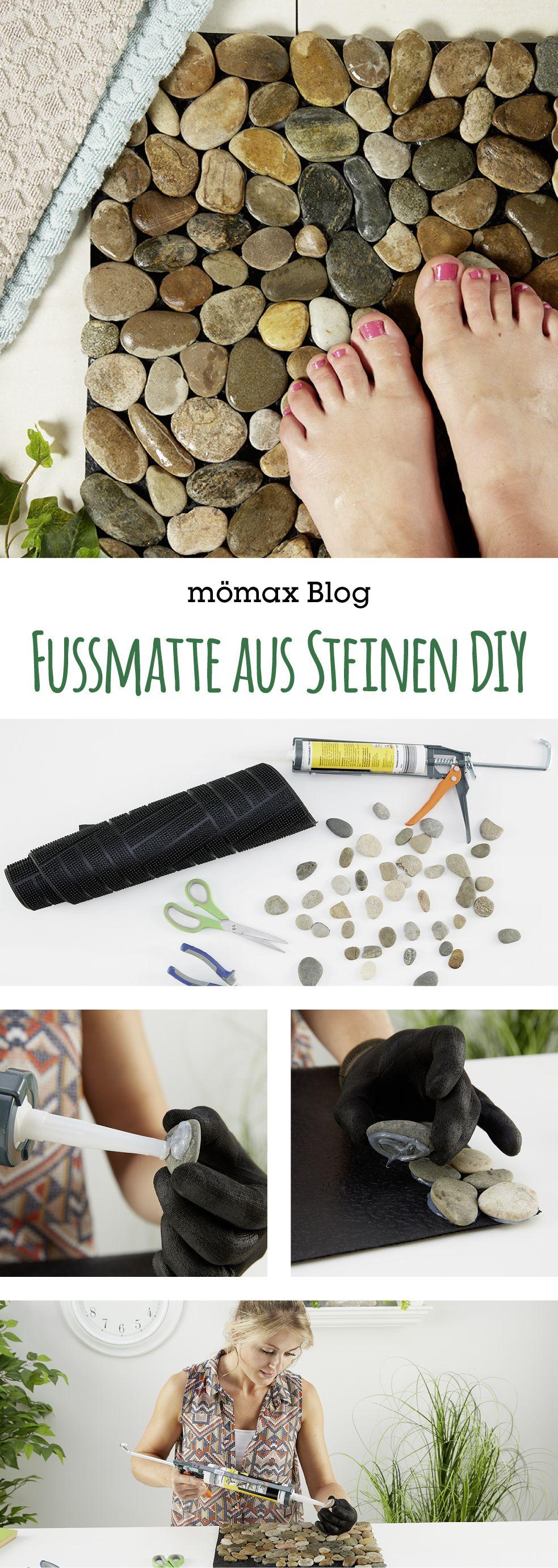 Fussmatte aus Steinen ganze einfach selber machen!  Anleitung am mömax Blog!