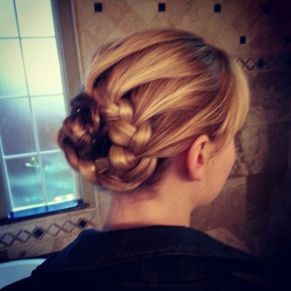 Wedding Hairstyles Games: Katniss-Braid Bun. Hunger Games Hair! :)