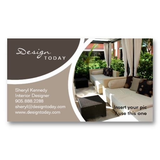 232 Interior Design Template Business Card Patio Zazzle Com In 2020 Interior Design Template Interior Designer Business Card Design