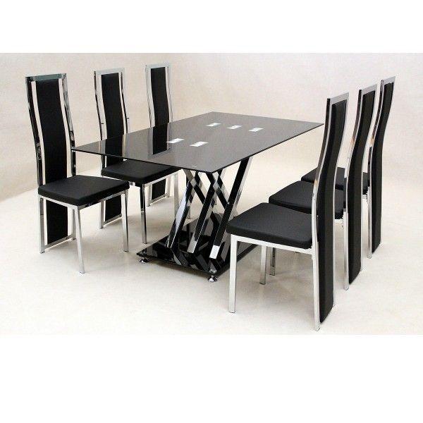Stuhl Esstisch | Esstisch glas, Schwarze essstühle ...