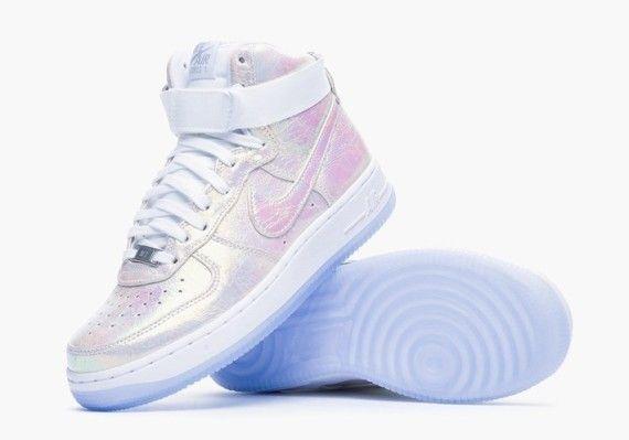 sports shoes c1d4c b27b1 Nike Womens Air Force 1 Iridescent Pearl